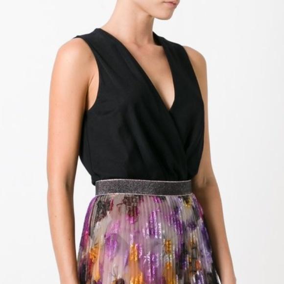 78130718d55071 Diane Von Furstenberg Tops - Diane von Furstenberg Lala Surplice Bodysuit  Black